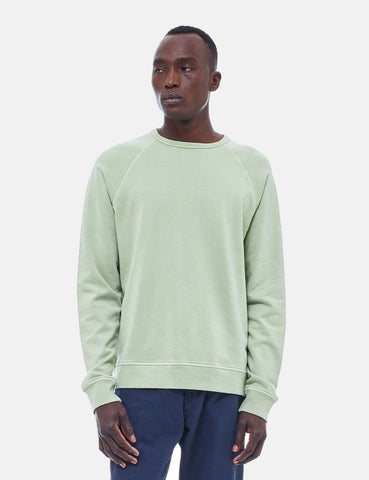 YMC Schrank Raglan Sweatshirt - Light Green