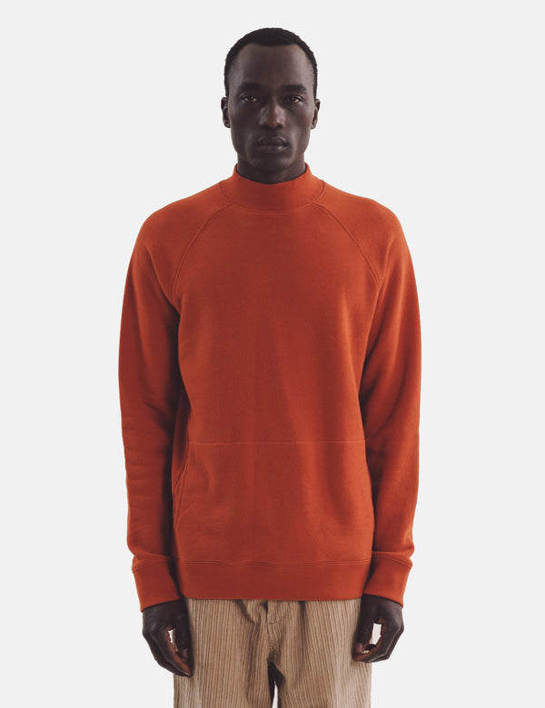 YMC Touche Pocket Sweatshirt - Rostrot