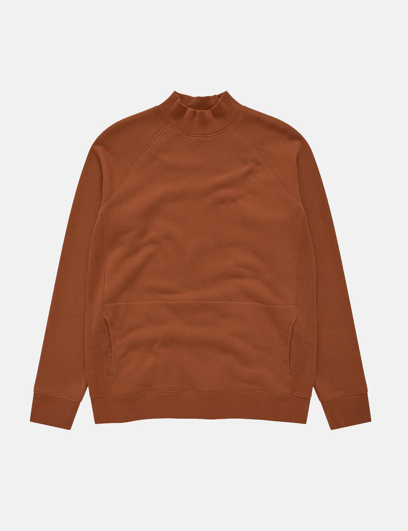 YMC Touche Pocket Sweatshirt - Rust Red