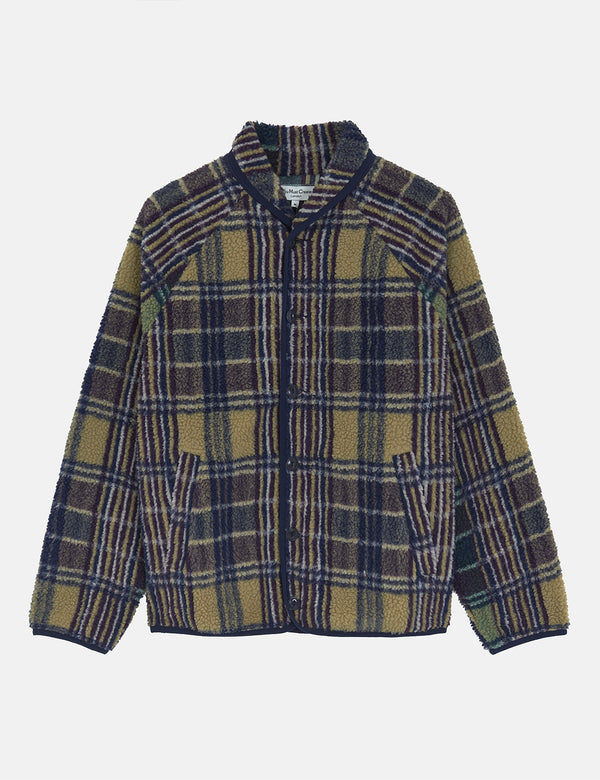YMC Beach Jacket (Fleece) - Multi Check