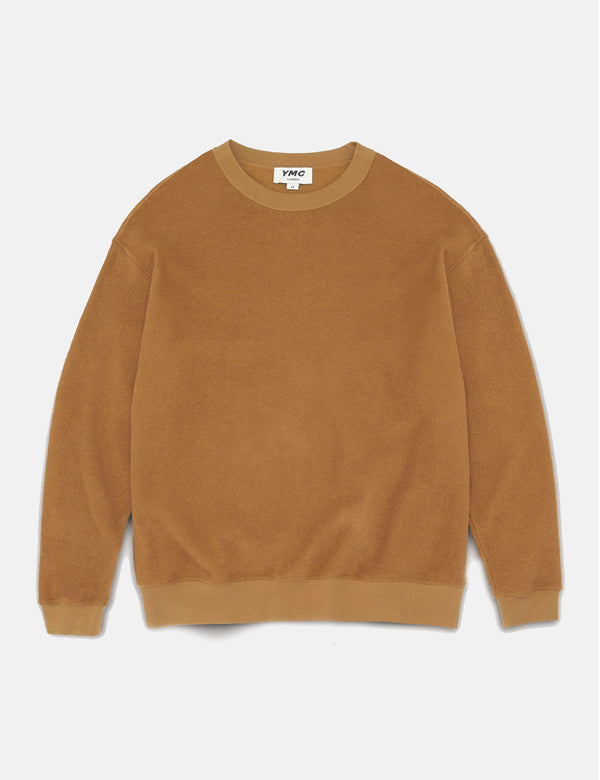 YMC Triple Long Sleeve Top - Brown