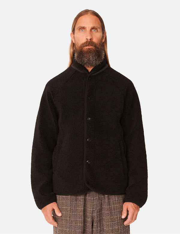 YMC Beach Jacket (Pile Fleece) - Black