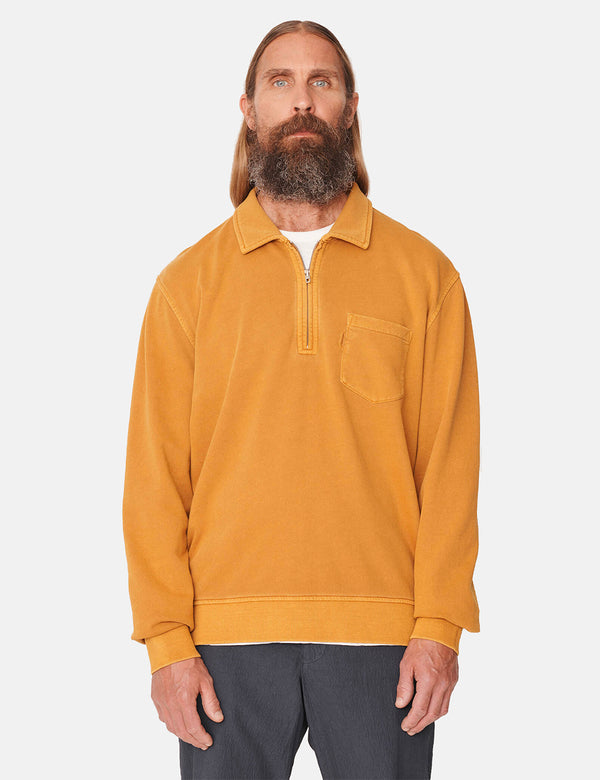 Sweat zippé YMC Sugden - Jaune