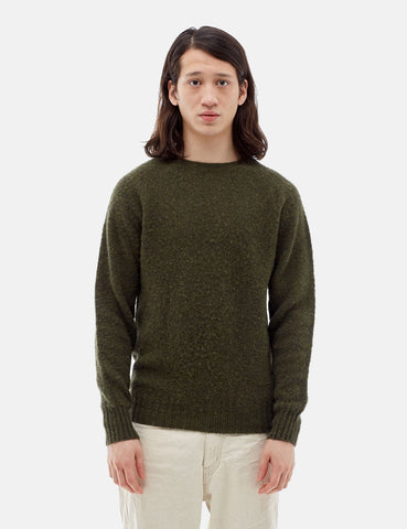YMC Suedehead Knit Sweatshirt - Green