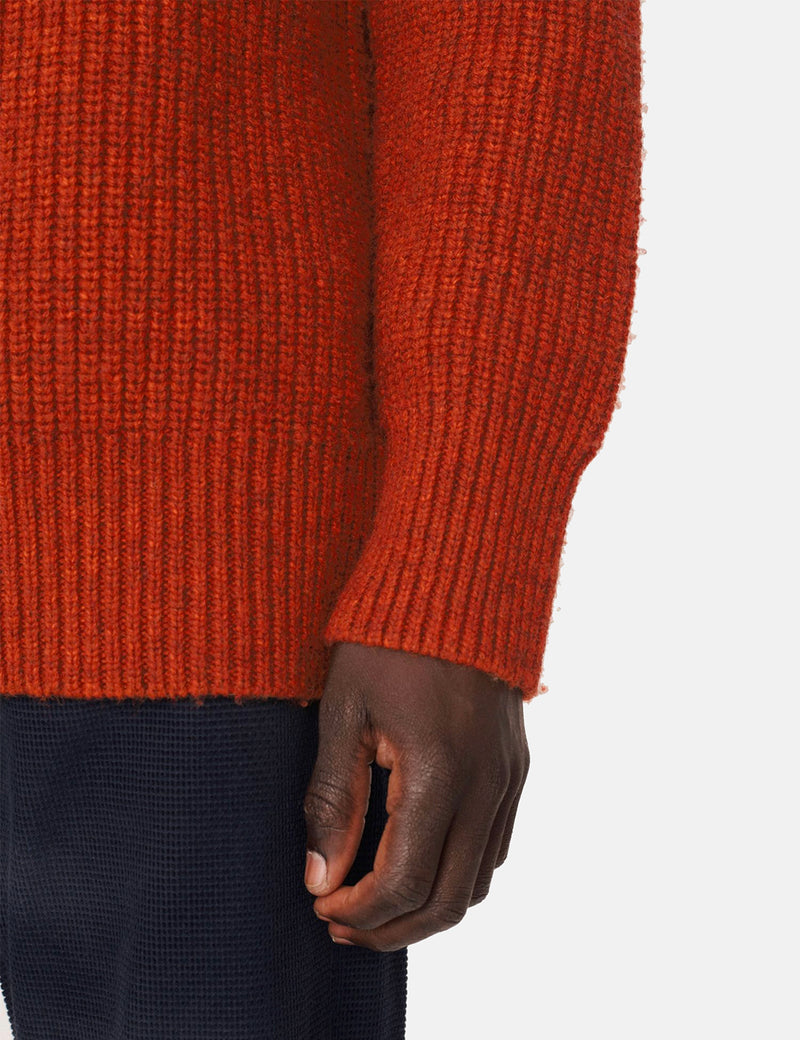 YMC Kingsdown Crew Neck - Rust