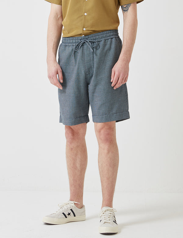 YMC Jay Skate Shorts - Navy Blue Check