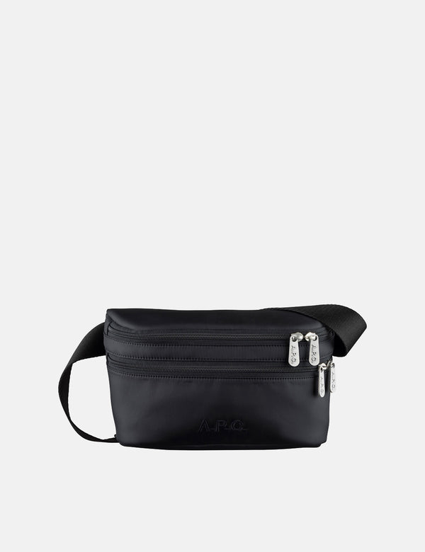 A.P.C. Raphael Hip Bag - Black