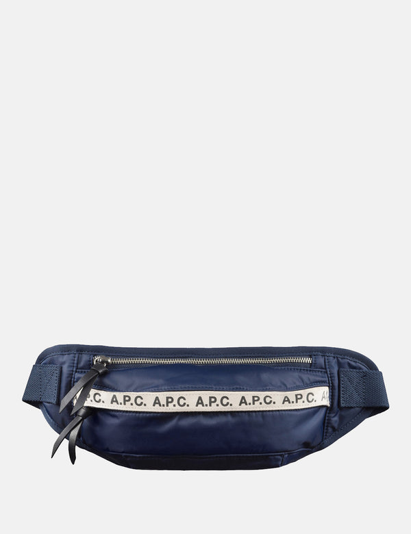 A.P.C. Banane Lucille Hip Bag - Navy Blue - Article