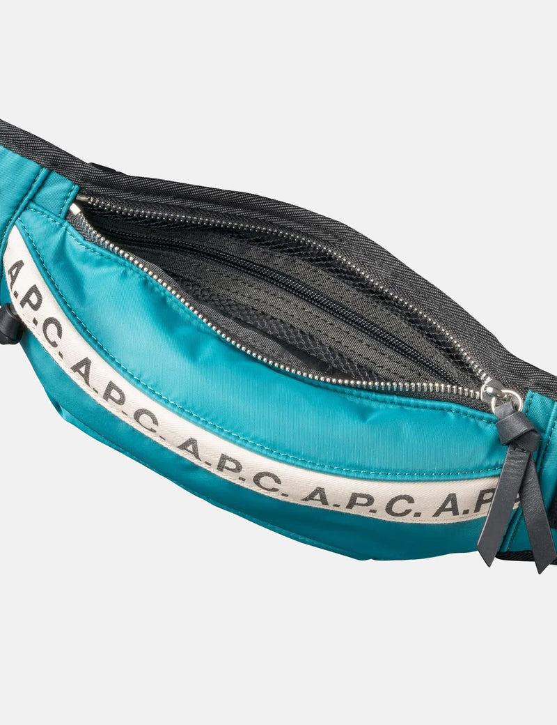 A.P.C. Repeat Hip Bag - Peacock Blue