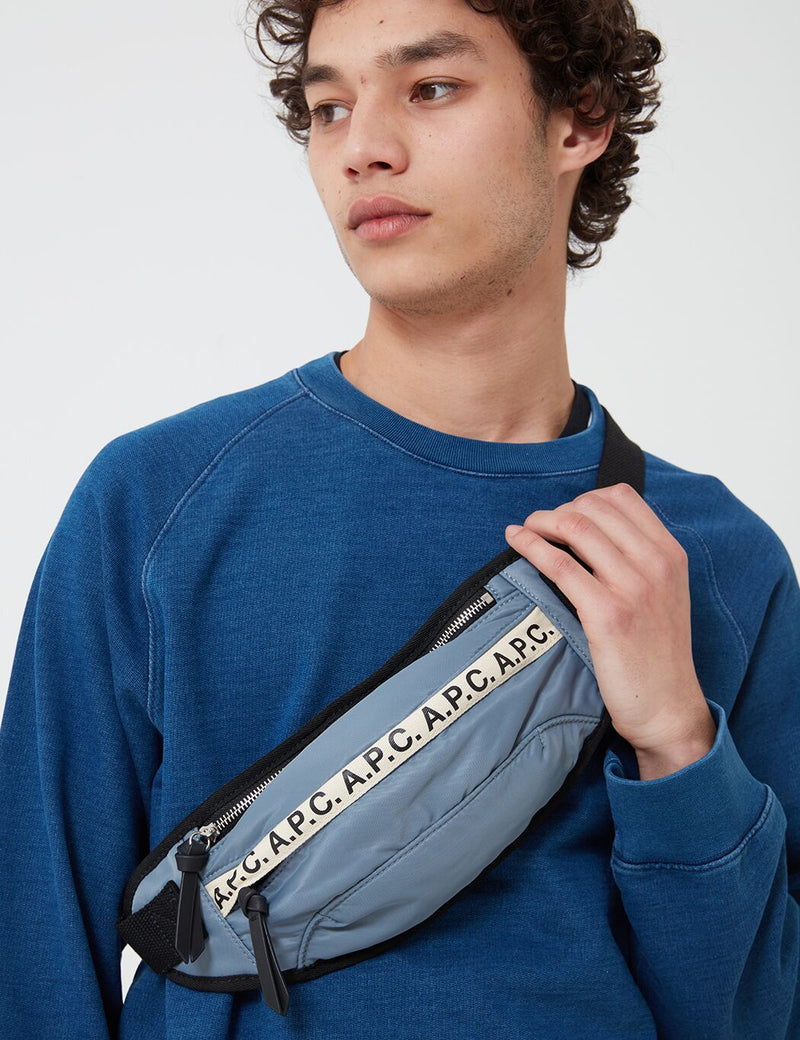 A.P.C. Repeat Hip Bag - Grey