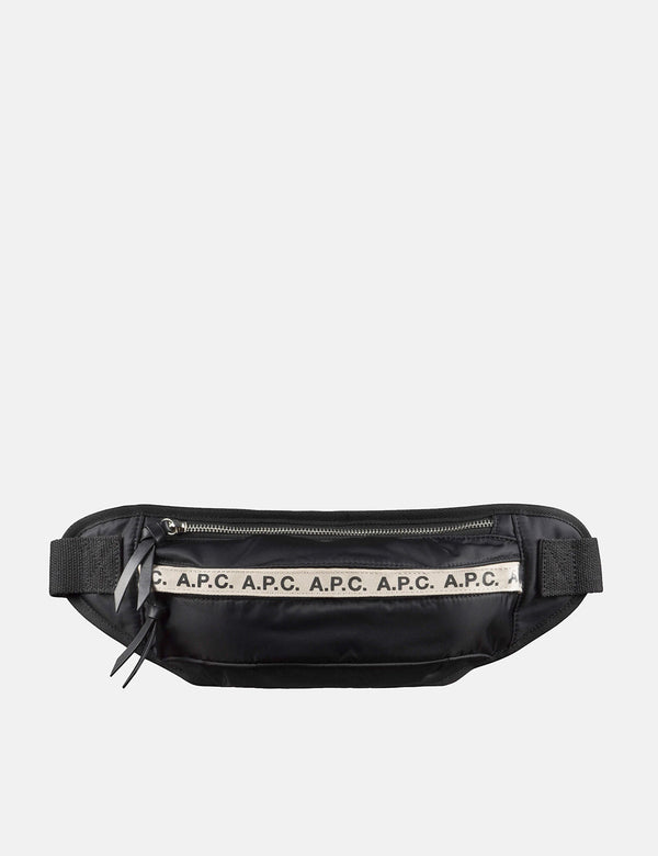 A.P.C. Repeat Hip Bag - Black