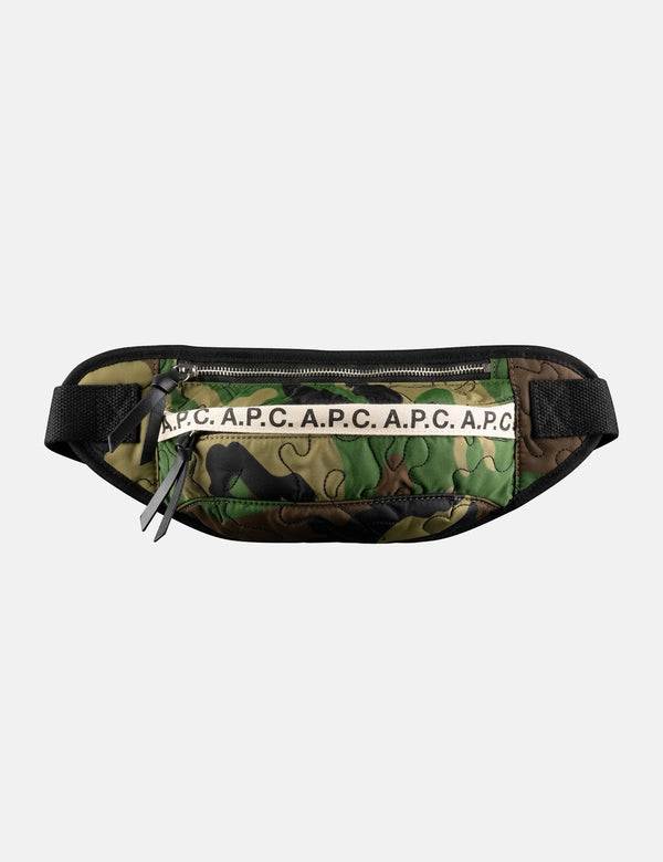 A.P.C. Banane Lucille Hip Bag - Camo Green