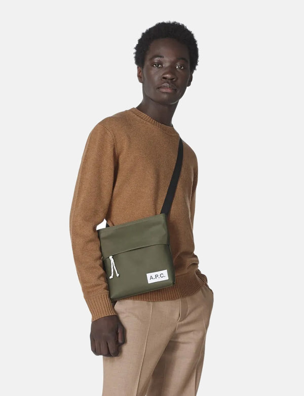 A.P.C. Protection Messenger Bag - Military Khaki