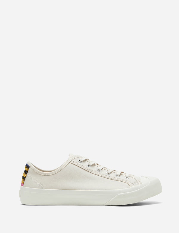 YMC Tape Heel Wing Tip Trainer (Canvas) - Cream White