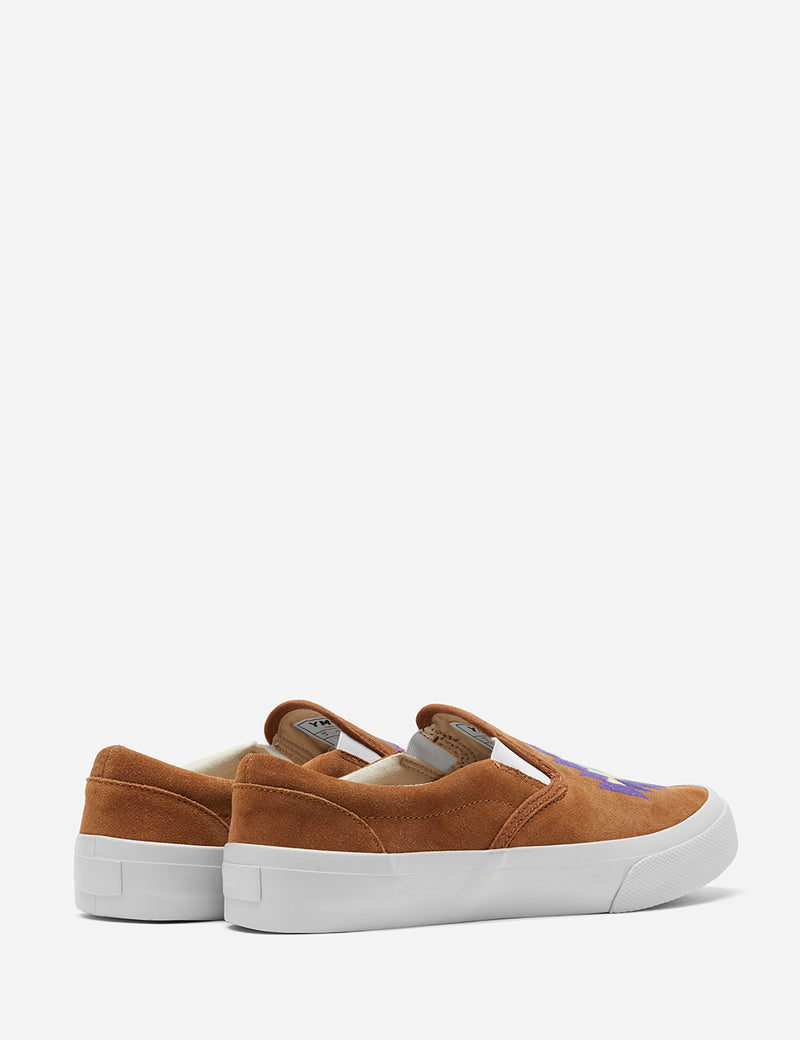 YMC Z-Boy Ikat Trainer (Suede) - Tan Brown