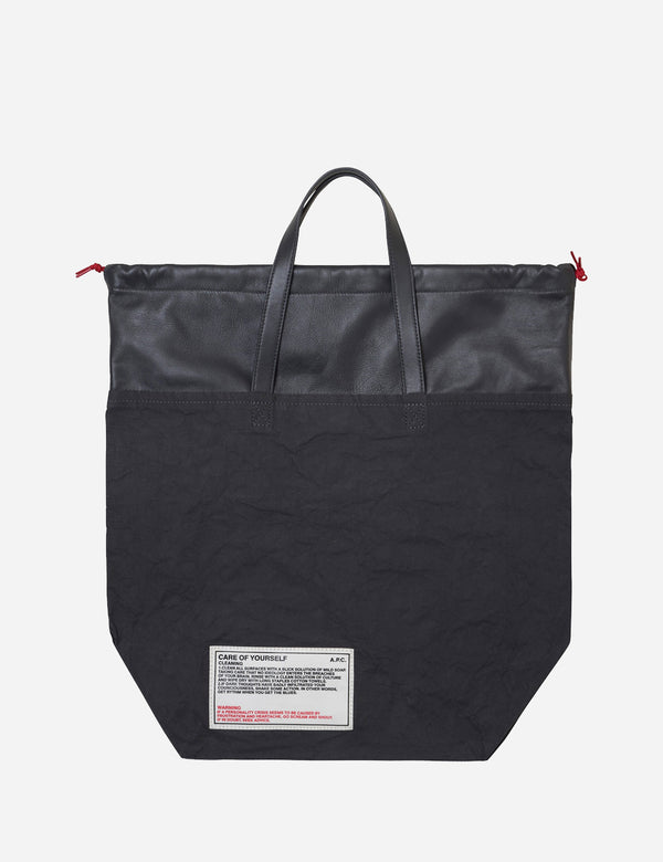 A.P.C. Cabas Manuel De Savoir Vivre Tote Bag - Anthracite Grey - Article