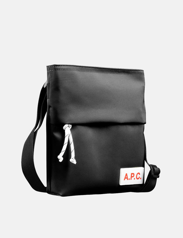 A.P.C. Protection Messenger Bag - Black