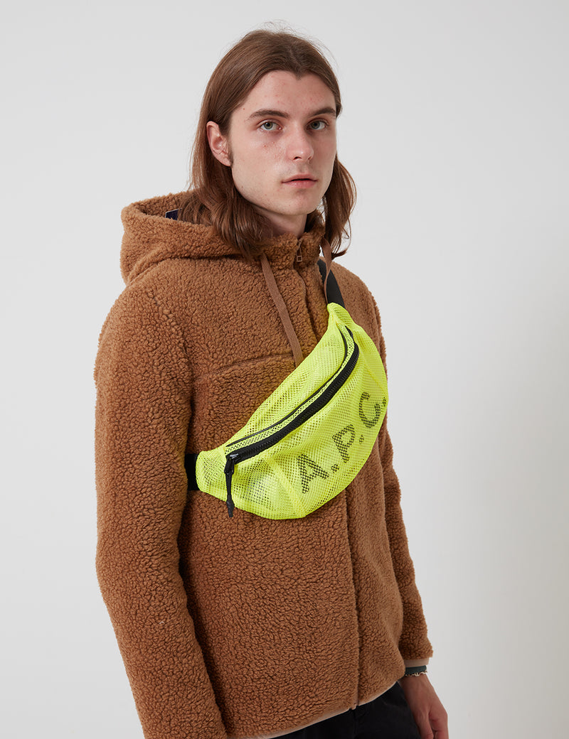 A.P.C. Rebound Banana Backpack - Fluorescent Yellow