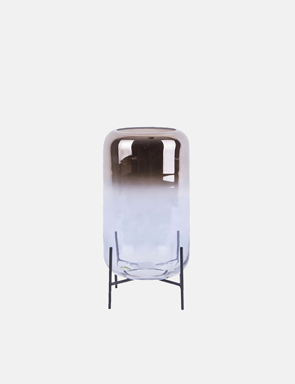 Present Time Silver Fade Vase (Large) - Glass