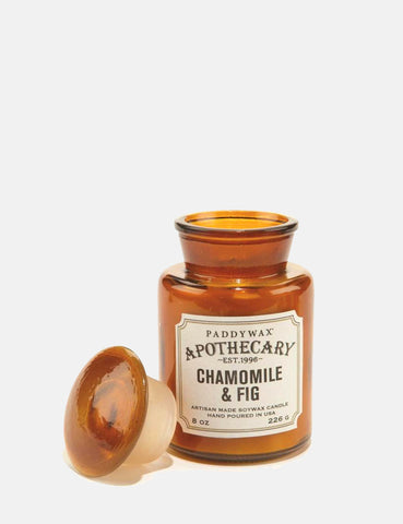 Paddywax Apothecary Glass Candle (8oz) - Chamomile & Fig