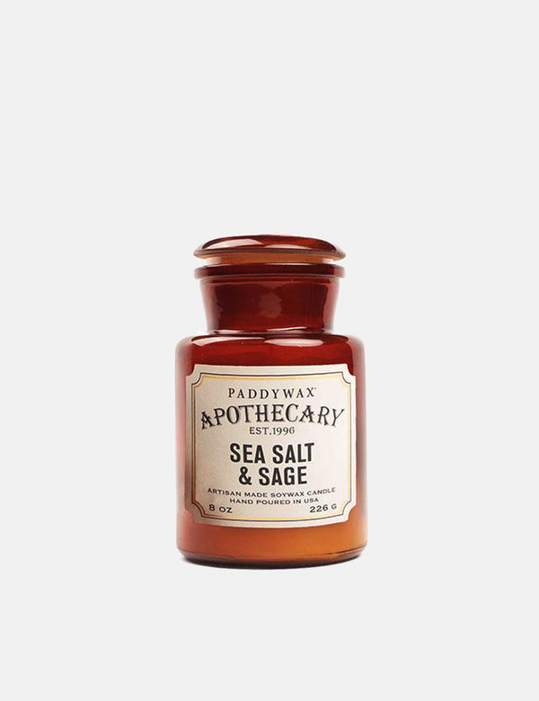 Paddywax Apothecary Glass Candle (8oz) - Sea Salt Sage