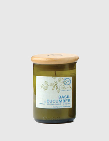 Paddywax ECO Green Candle (8oz) - Basil & Cucumber