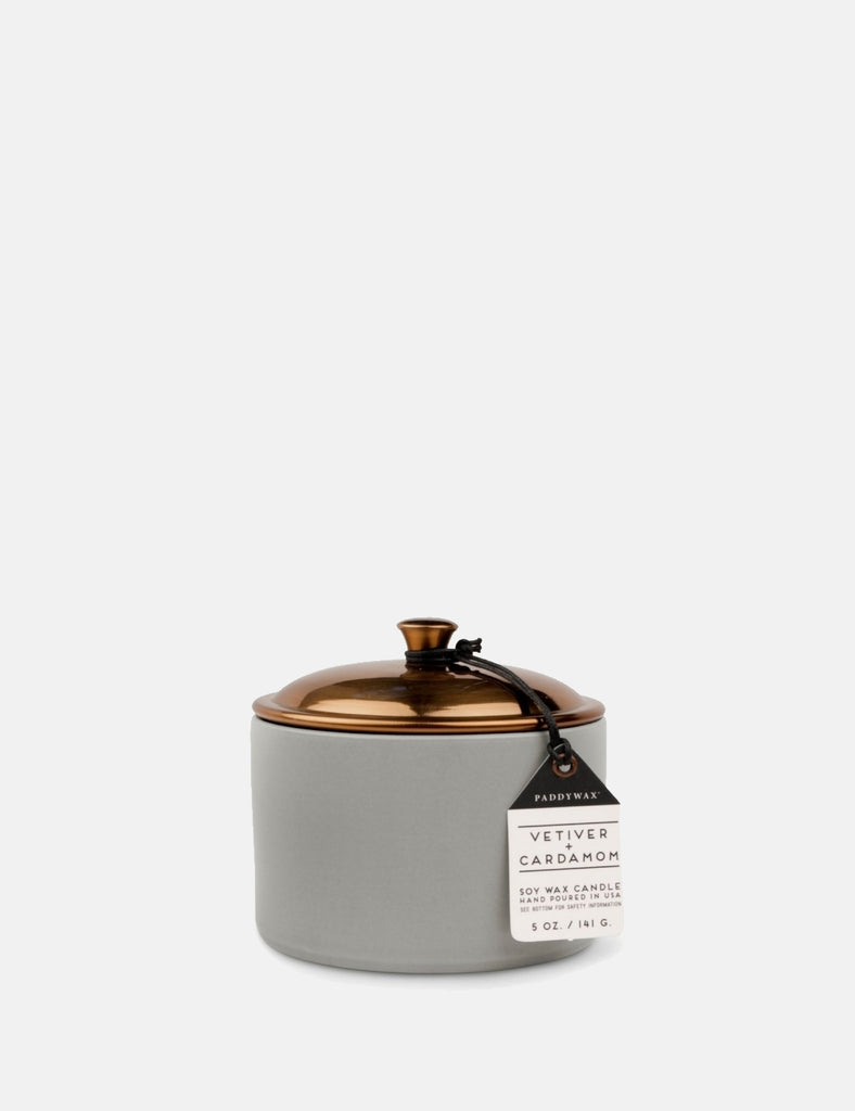Paddywax Hygge Ceramic Candle (5oz) - Vetiver & Cardamon