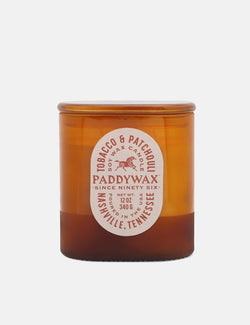 Paddywax Vista Candle (12oz) - Tobacco & Patchouli