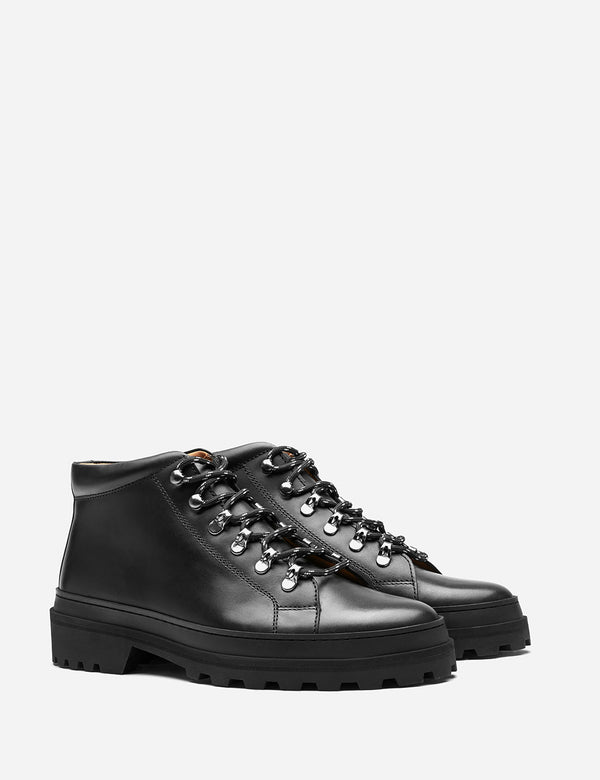 A.P.C. Ludwig Hiking Boots (Leather) - Black