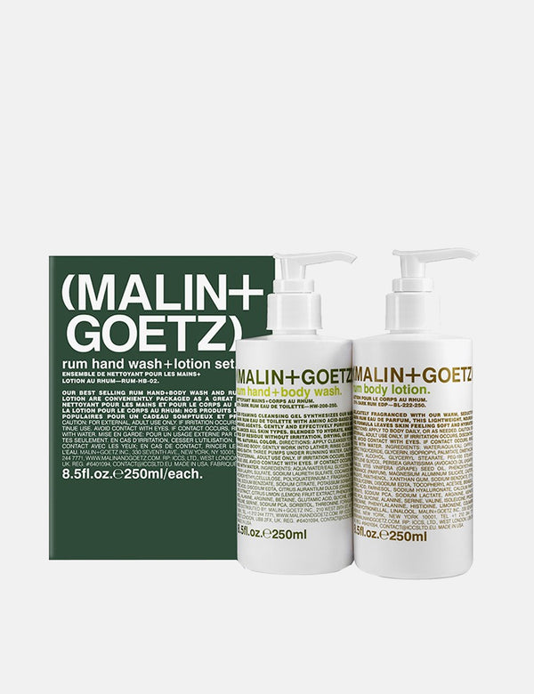 Malin+Goetz Rum Hand Wash and Lotion Set (2 x 250ml) - White