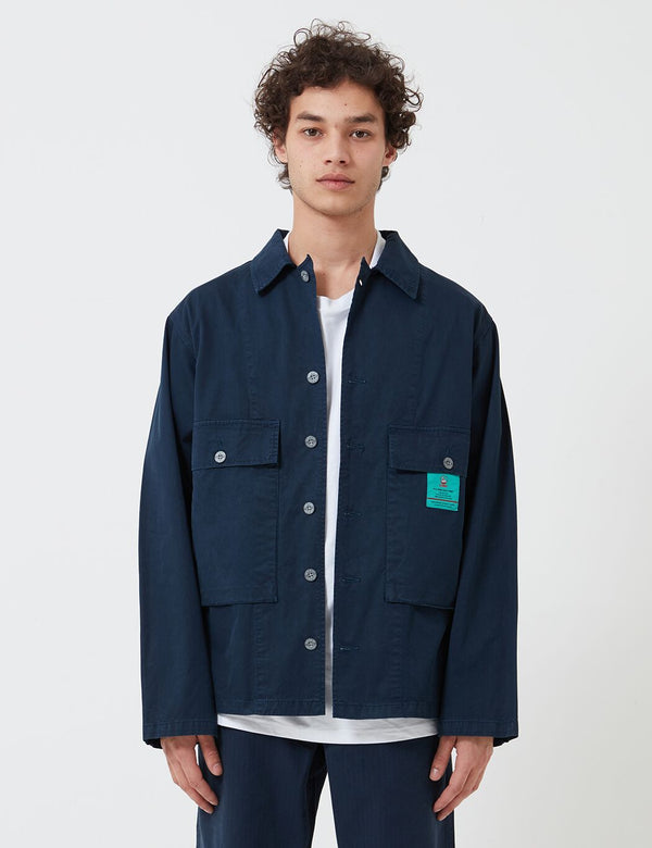 Nigel Cabourn USMC Shirt Jacket - Black Navy