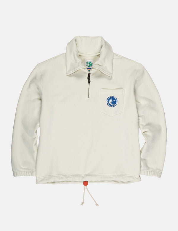 Nigel Cabourn x Element Quarter Zip Track Top - Washed White