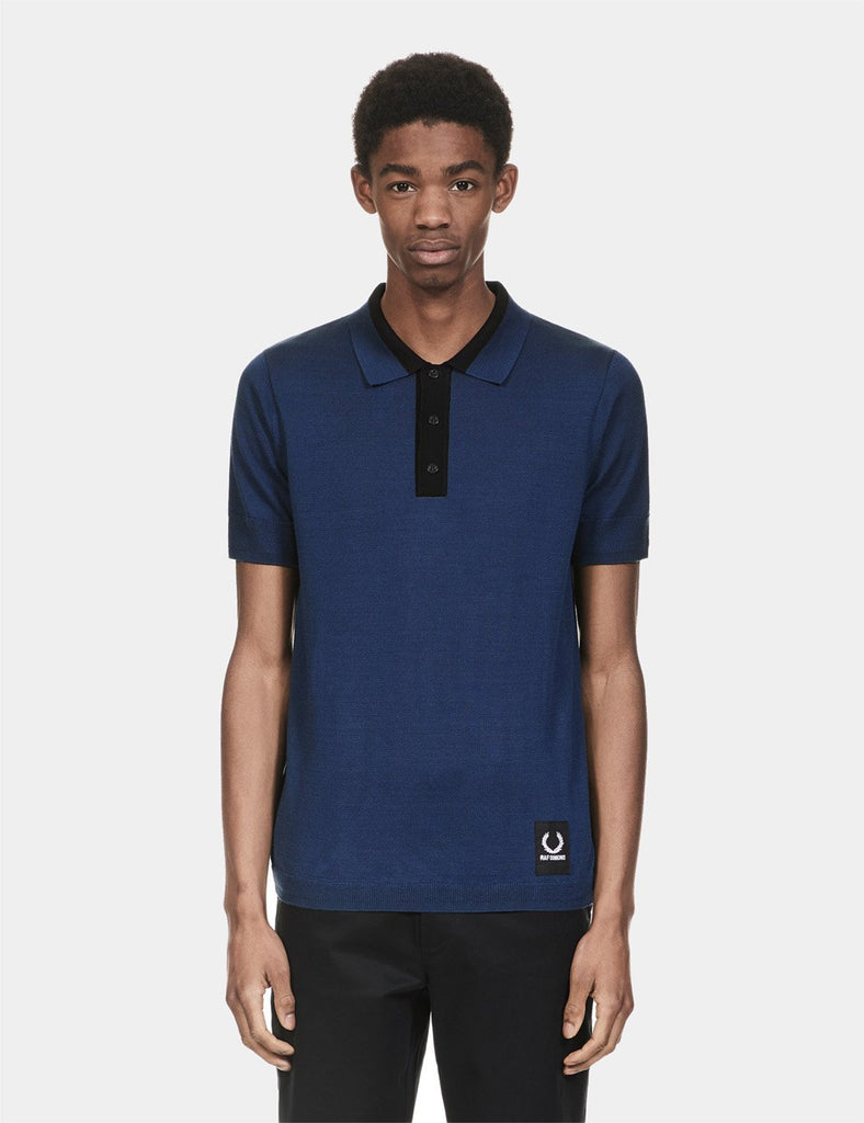 Fred Perry x Raf Simons Knitted Sport Polo Shirt - French Navy