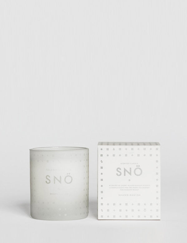 Skandinavisk SNO Silence Scented Candle - White