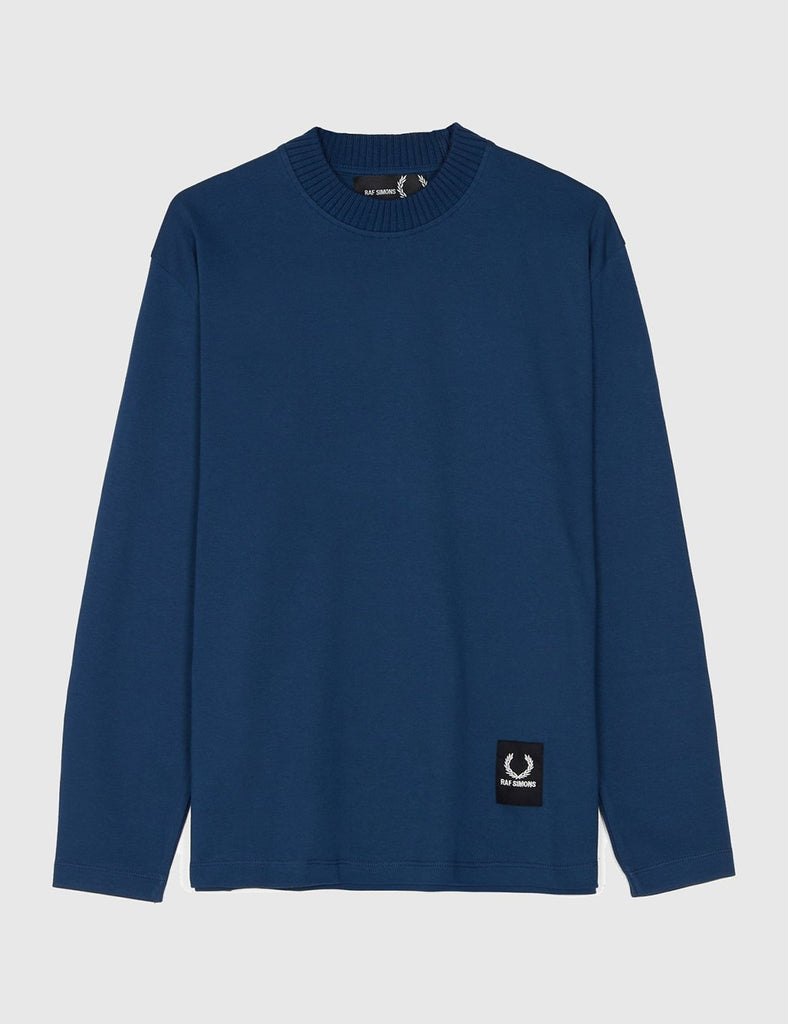 Fred Perry x Raf Simons Jersey Long Sleeve T-Shirt - Dark Blue