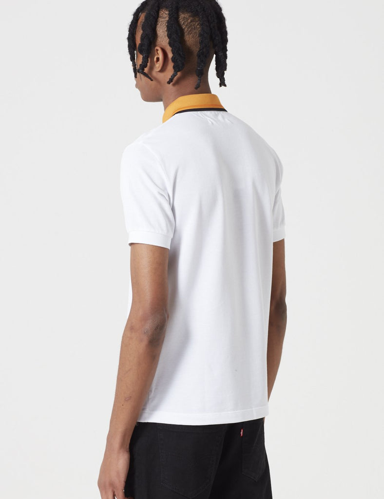 Fred Perry x Raf Simons Contrast Collar Pique Shirt - White