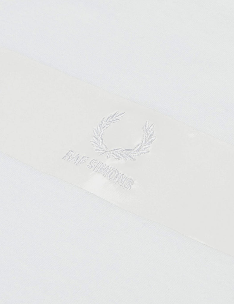 Fred Perry x Raf Simons Tape Detail T-Shirt- White