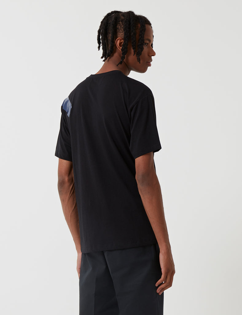 Fred Perry x Raf Simons Tape Detail T-Shirt - Black