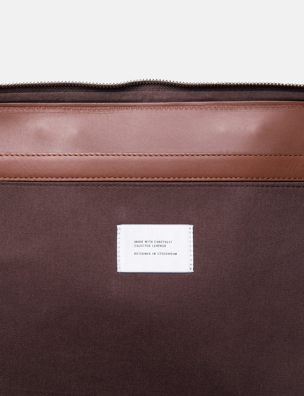 "Sandqvist Myrtel Briefcase 13"" (Leather) - Cognac Brown"