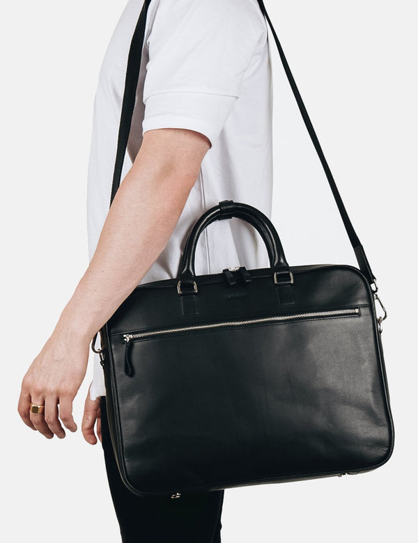 Sandqvist Dag Briefcase (Leather) - Black