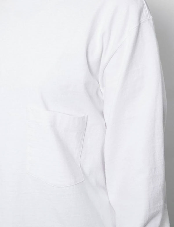 T-Shirt à Manche Longue Snow Peak Heavy Cotton Garment Dyed - White