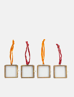 Nkuku Kiko Tiny Frame (Set of 4, 5x5cm) - Antique Brass
