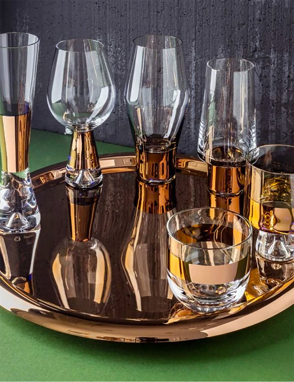 Tom Dixon Tank Beer Glasses (Set of 2) - Copper