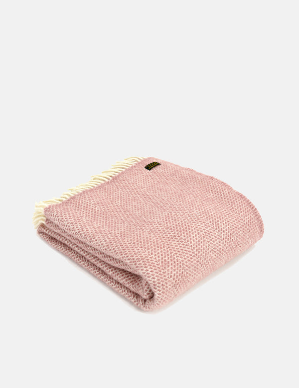 Tweedmill Beehive Throw (150x183cm) - Dusky Pink