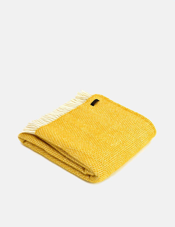 Tweedmill Beehive Throw (150x183cm) - Yellow