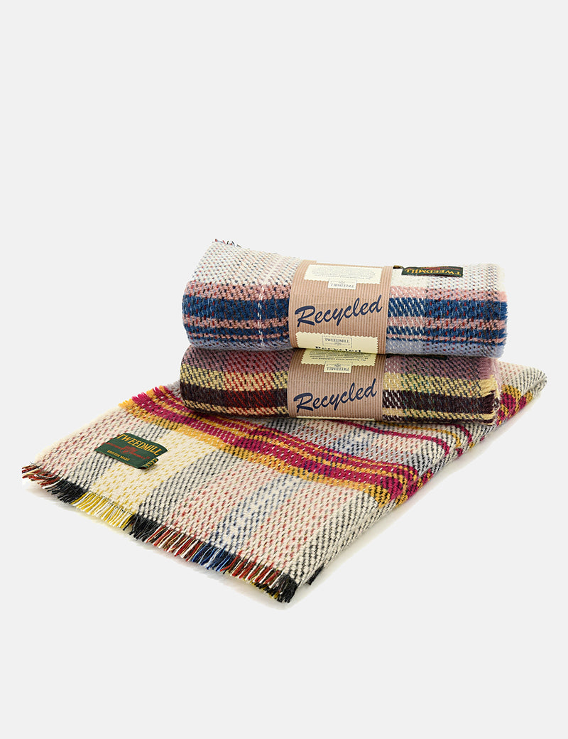 Tweedmill Recycled Random Blanket (120x150cm) - Multi