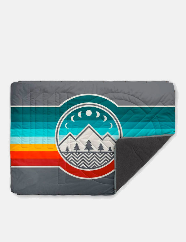 Voited Fleece Pillow Blanket - Camp Vibes