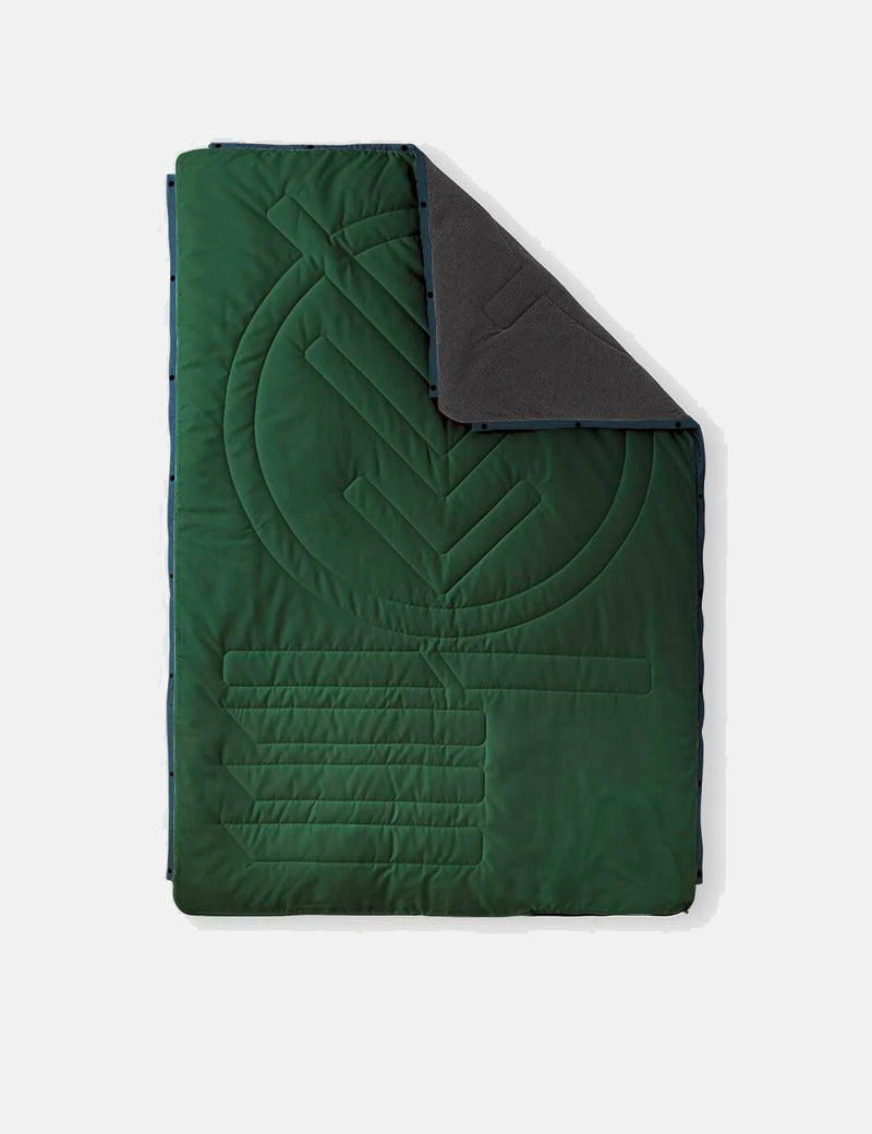 Voited Fleece Pillow Blanket - Eden Green