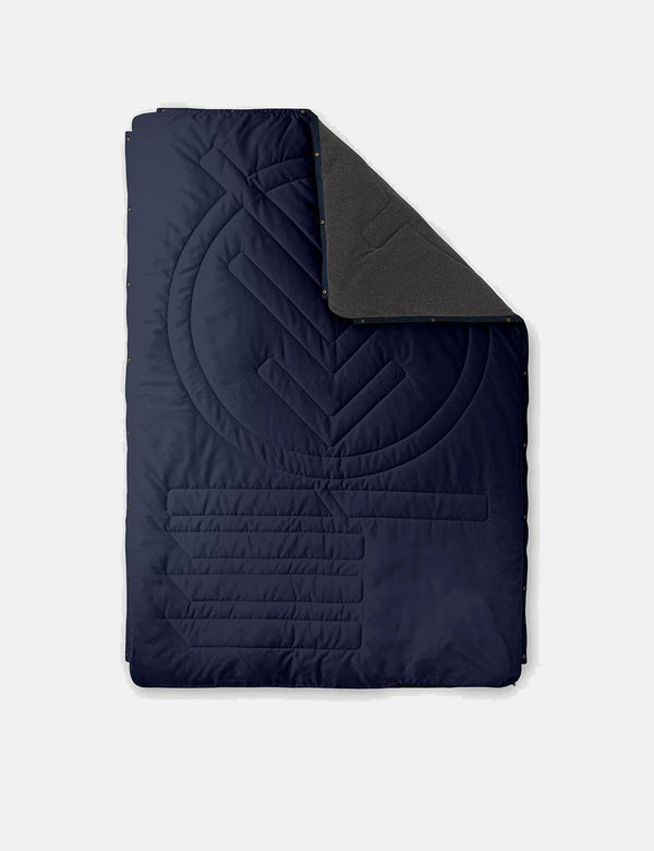 Voited Fleece Pillow Blanket - Dark Navy Blue