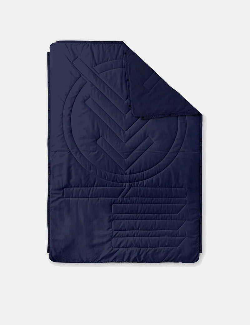 Voited Recycled Ripstop Outdoor Pillow Blanket - Dark Navy Blue